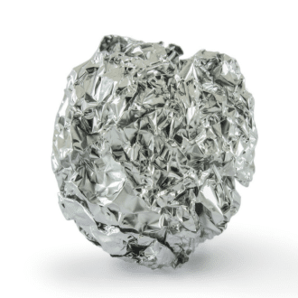 silver foil ball in washing machine