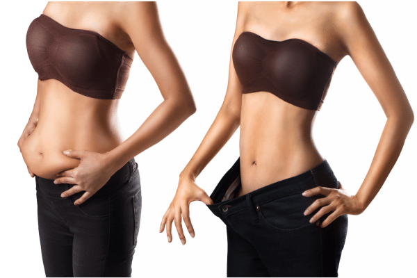 This before and after image demonstrate how you will lose belly fat doing these 6 workouts.
