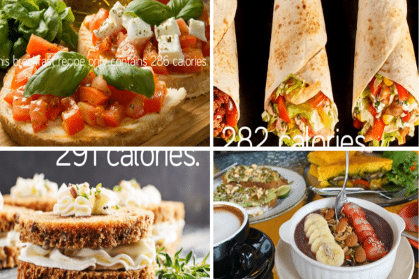 A demo of different meal plans