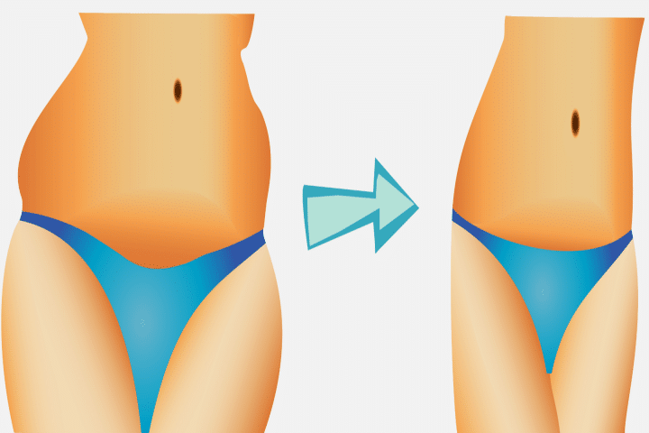 How to lose belly fat within a week - before after image