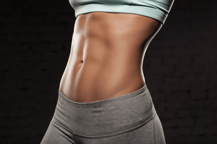 Flat ab or stomach of a lady with perfect ab.